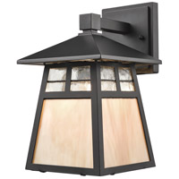 Cottage 1 Light 11 inch Matte Black Outdoor Wall Sconce in Standard