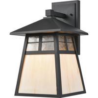 ELK 87051/1 Cottage 1 Light 15 inch Matte Black Outdoor Sconce