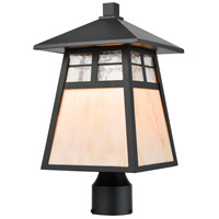 ELK 87054/1 Cottage 1 Light 17 inch Matte Black Post Mount