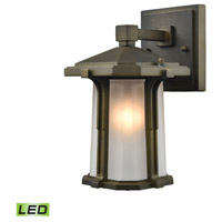 Elk Lighting Brighton LED Outdoor Wall Sconce in Smoked Bronze 87090/1-LED