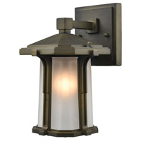 Elk Lighting Brighton 1 Light Outdoor Wall Sconce in Smoked Bronze 87090/1