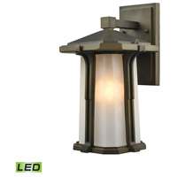 Elk Lighting Brighton LED Outdoor Wall Sconce in Smoked Bronze 87091/1-LED