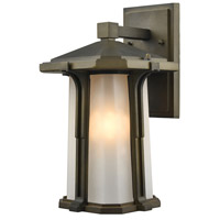 Elk Lighting Brighton 1 Light Outdoor Wall Sconce in Smoked Bronze 87091/1
