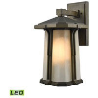 Elk Lighting Brighton LED Outdoor Wall Sconce in Smoked Bronze 87092/1-LED