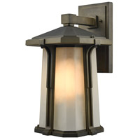 Elk Lighting Brighton 1 Light Outdoor Wall Sconce in Smoked Bronze 87092/1