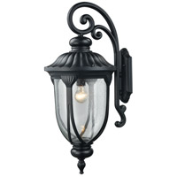 Elk Lighting Derry Hill 1 Light Outdoor Wall Sconce in Matte Black 87102/1