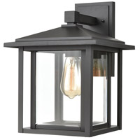 ELK 87132/1 Solitude 1 Light 15 inch Matte Black Outdoor Sconce