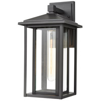 ELK 87133/1 Solitude 1 Light 15 inch Matte Black Outdoor Sconce