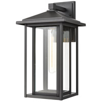 ELK 87134/1 Solitude 1 Light 17 inch Matte Black Outdoor Sconce