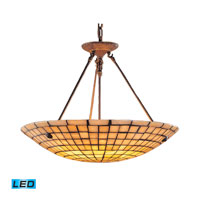 Stone Mosaic LED 24 inch Dark Antique Brass Pendant Ceiling Light
