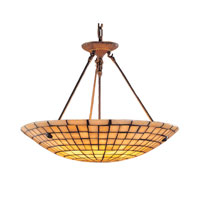Stone Mosaic 8 Light 24 inch Dark Antique Brass Pendant Ceiling Light in Standard