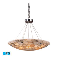 Spanish Mosaic LED 24 inch Polished Chrome Pendant Ceiling Light