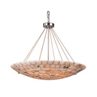 Spanish Mosaic 8 Light 32 inch Polished Chrome Pendant Ceiling Light