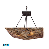 ELK Lighting Imperial Granite 4 Light LED Pendant in Dark Antique Brass 8875/4-LED