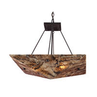 ELK Lighting Imperial Granite 4 Light Pendant in Dark Antique Brass 8875/4