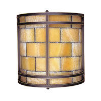ELK Lighting Stone Mosaic 2 Light Sconce in Dark Antique Brass 8882/2 photo thumbnail