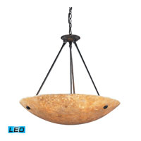 ELK Lighting Stonybrook 6 Light Pendant in Dark Rust 8897/6-LED