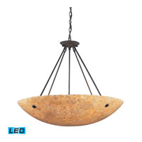 ELK Lighting Stonybrook 8 Light Pendant in Dark Rust 8898/8-LED