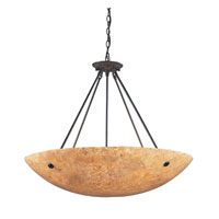 ELK Lighting Stonybrook 8 Light Pendant in Dark Rust 8898/8