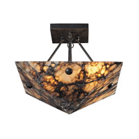 ELK Lighting Imperial Granite 4 Light Semi-Flush Mount in Antique Brass 9004/4