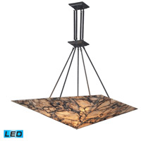 ELK 9010/9-LED Imperial Granite LED 39 inch Antique Brass Pendant Ceiling Light