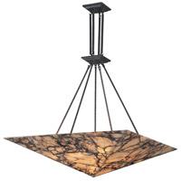 ELK 9010/9 Imperial Granite 9 Light 39 inch Antique Brass Pendant Ceiling Light in Standard