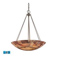 ELK Lighting Marbled Stone 6 Light Pendant in Matte Nickel 9025/6-LED