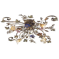 Brillare 4 Light 36 inch Bronzed Rust Semi Flush Mount Ceiling Light