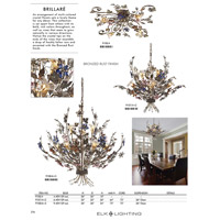 ELK 9107/4+2 Brillare 6 Light 32 inch Bronzed Rust Chandelier Ceiling Light alternative photo thumbnail