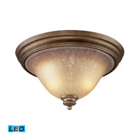 ELK Lighting Lawrenceville 2 Light Flush Mount in Mocha 9319/2-LED