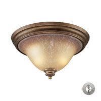 Lawrenceville 2 Light 16 inch Mocha Flush Mount Ceiling Light in Incandescent, Recessed Adapter Kit