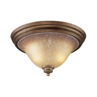 Lawrenceville 2 Light 16 inch Mocha Flush Mount Ceiling Light in Incandescent, Standard