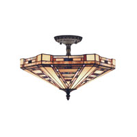 ELK Lighting American Art 3 Light Semi-Flush Mount in Classic Bronze 932-CB