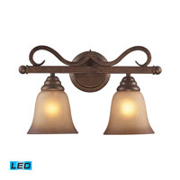 ELK Lighting Lawrenceville 2 Light Bath Bar in Mocha 9321/2-LED
