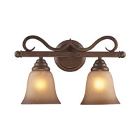 Lawrenceville 2 Light 16 inch Mocha Vanity Wall Light in Standard