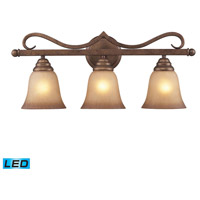 ELK Lighting Lawrenceville 3 Light Bath Bar in Mocha 9322/3-LED