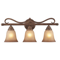 Lawrenceville 3 Light 24 inch Mocha Vanity Wall Light in Standard