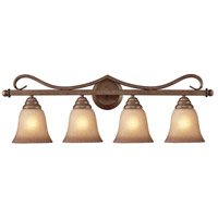 Lawrenceville 4 Light 31 inch Mocha Vanity Wall Light