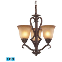 ELK Lighting Lawrenceville 3 Light Chandelier in Mocha 9326/3-LED