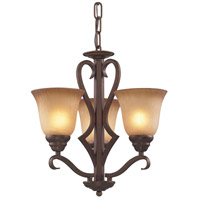 Lawrenceville 3 Light 17 inch Mocha Chandelier Ceiling Light in Standard