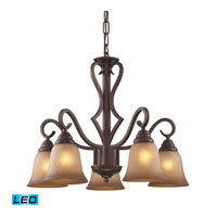 ELK Lighting Lawrenceville 5 Light Chandelier in Mocha 9327/5-LED