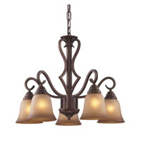 Lawrenceville 5 Light 24 inch Mocha Chandelier Ceiling Light in Standard
