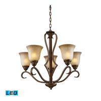 ELK Lighting Lawrenceville 5 Light Chandelier in Mocha 9328/5-LED