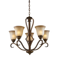 Lawrenceville 5 Light 26 inch Mocha Chandelier Ceiling Light in Standard