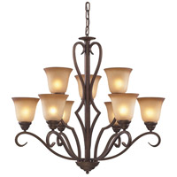 ELK Lighting Lawrenceville 9 Light Chandelier in Mocha 9329/6+3