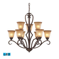 Lawrenceville LED 32 inch Mocha Chandelier Ceiling Light