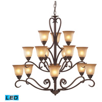 ELK Lighting Lawrenceville 15 Light Chandelier in Mocha 9330/6+6+3-LED