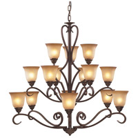 ELK Lighting Lawrenceville 15 Light Chandelier in Mocha 9330/6+6+3