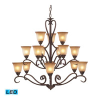 Lawrenceville LED 44 inch Mocha Chandelier Ceiling Light