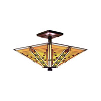 ELK Lighting Arrowhead 3 Light Semi-Flush Mount in Tiffany Bronze 935-TB